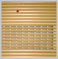 Perforated rolling shutter doors