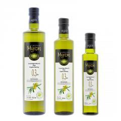 Cretan Myron ,Bio Organic Cretan Extra Virgin Olive Oil,First Cold Pressed (Green Glass Bottle)