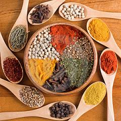 Spices and herbs all seeds