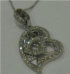 Necklace with precious stones