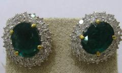 Earings with precious stones