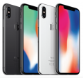 Smartphone Apple iPhone X - 4G LTE - 256Gb - New - Unlocked (SILVER)