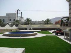 الغطاء الأخضر العشب الصناعي